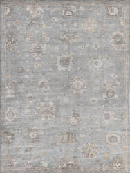 Exquisite Rugs Museum Hand Knotted Blue - Gray Area Rug