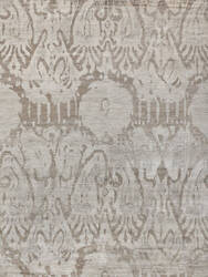 Exquisite Rugs Antique'd Silk Hand Knotted 3631 Beige Area Rug