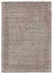Exquisite Rugs Antique'd Silk Hand Knotted Silver Area Rug
