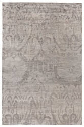 Exquisite Rugs Antique'd Silk Hand Knotted Brown Area Rug