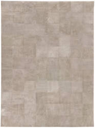 Exquisite Rugs Distressed Suede Hair on Hide Beige Area Rug