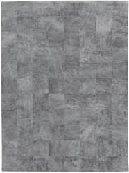 Exquisite Rugs Distressed Suede Hair on Hide Silver Area Rug