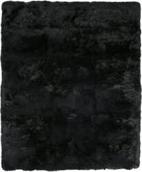 Exquisite Rugs Royal Sheepskin Shag Black Area Rug