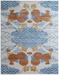 Exquisite Rugs Koda Hand Woven Orange - Blue Area Rug