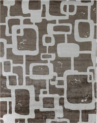 Exquisite Rugs Koda Hand Woven Brown - Ivory Area Rug