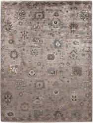 Exquisite Rugs Museum Hand Knotted Silver - Brown Area Rug