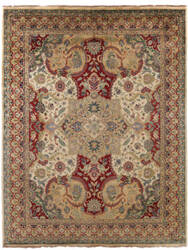 Exquisite Rugs Polonaise Hand Knotted Cream - Red Area Rug