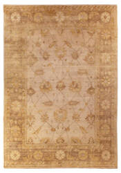 Exquisite Rugs Oushak Hand Knotted Brown Area Rug