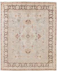 Exquisite Rugs Oushak Hand Knotted Gray - Brown Area Rug