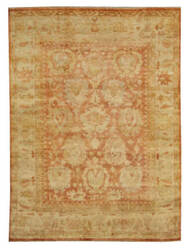 Exquisite Rugs Oushak Hand Knotted Red - Beige Area Rug