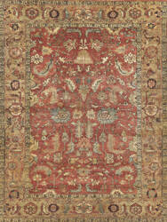 Exquisite Rugs Serapi Hand Knotted Rust - Gold Area Rug