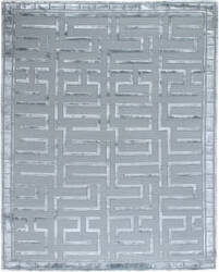Exquisite Rugs Moreno Hand Knotted Silver - Aqua Area Rug