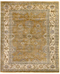 Exquisite Rugs Oushak Hand Knotted Yellow - Ivory Area Rug