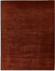 Exquisite Rugs Gem Hand Woven Orange Area Rug