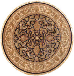 Famous Maker Mogul Art 26877 Navy - Ivory Area Rug