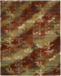 Famous Maker Madson 100371 Scarlet/Sand Area Rug
