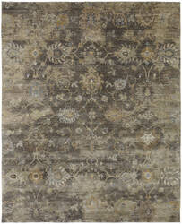 Famous Maker Obelia 100085 Smoky Brown Area Rug