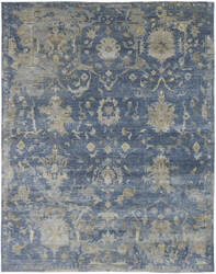 Famous Maker Obelia 100087 Vintage Denim Area Rug