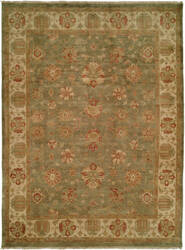 Famous Maker Oushak 516 Green Area Rug