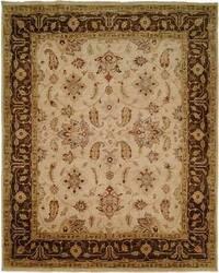 Famous Maker Oushak 100529 Ivory-Brown Area Rug