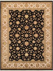 Famous Maker Agra Pdde-1 Black - Ivory Area Rug