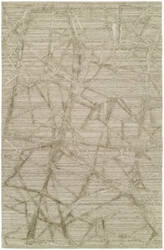 Famous Maker Titanium 100594 Graphic Linen Area Rug