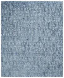 Famous Maker Titanium 100596 Ocean Blue Area Rug