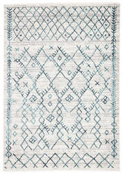 Famous Maker Valarie Apana Val-1020 White - Teal Area Rug
