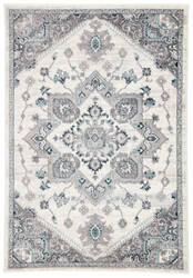 Famous Maker Valarie Wayra Val-1100 White - Light Gray Area Rug