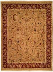 Kalaty Soumak Su-143 Wheat/Red Area Rug