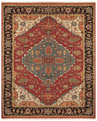 Feizy Goshen 0638f Red - Black Area Rug