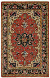 Feizy Ustad 6112f Red - Black Area Rug