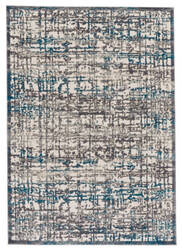 Feizy Akhari 3677f Gray - Turquoise Area Rug