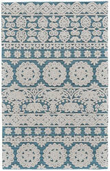 Feizy Primrose 8574f Sea Blue Area Rug