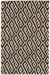 Feizy Leon 0118f Black - White Area Rug