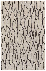 Feizy Enzo 8734f Black - Taupe Area Rug