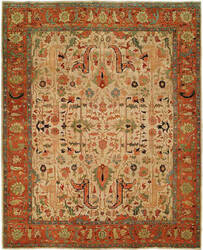 Hri Antique Heriz 101 Ivory - Rust Area Rug