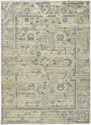 HRI Antique Natural An-321 Natural - Blue Area Rug