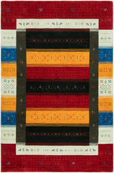 HRI Folk Fl-1109 Red - Multi Area Rug