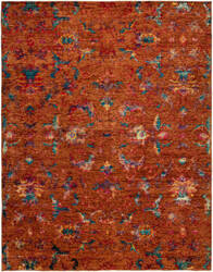 HRI Melody Me-3068 Orange Area Rug