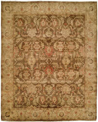 Hri Oushak B-260 Brown - Beige Area Rug
