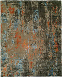 Hri Rosewood Ro-1429 Grey - Rust Area Rug