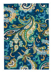 Jaipur Living Barcelona I-O Calico Ba23 Blue Outlet Area Rug