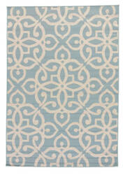 Jaipur Living Bloom Scrolled Blo13 Blue Surf - Birch Area Rug