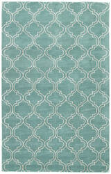 Jaipur Living Baroque Hampton Bq23 Dusty Turquoise - Bright White Area Rug