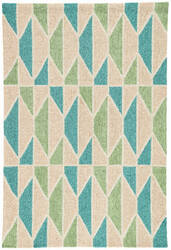 Jaipur Living Catalina Valencia Cat35 Tan and Teal Area Rug