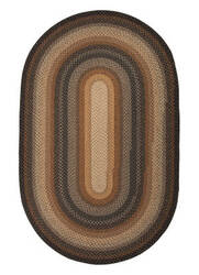 Jaipur Living Cotton Braided Rugs Cocoa Bean Cbr02 Black Olive - Sandstone Area Rug
