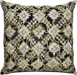 Jaipur Living Cosmic By Nikki Chu Pillow Florian Cnk12 Black - White Area Rug