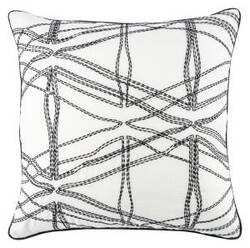 Jaipur Living Cosmic By Nikki Chu Pillow Nki30 Cnk26 Blanc De Blanc - Jet Black
