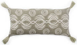 Jaipur Living Cosmic By Nikki Chu Pillow Satin Cnk64 Taupe - White